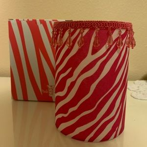 Pink Zebra Candle Warmer Shade Only